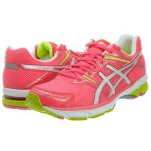 Asics GT-1000 Hot Pink Lime Running Cross Shoe 40